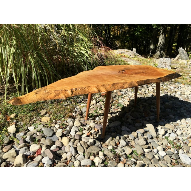 Maple Live Edge Cocktail Table - Image 5 of 6