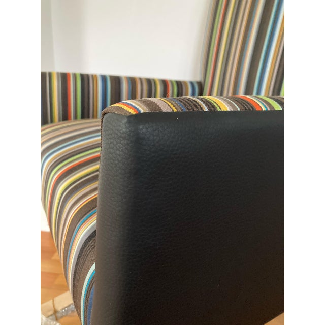 Textile J L F Collections Rolling Desk Chair For Sale - Image 7 of 12