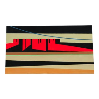 Original Painting Radio Waves Abstract Landscape For Sale
