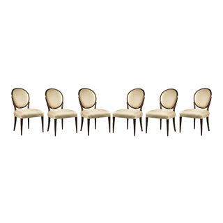 Hickory White Stratos Balloon Back Dining Armless Chairs- Set of 6 For Sale