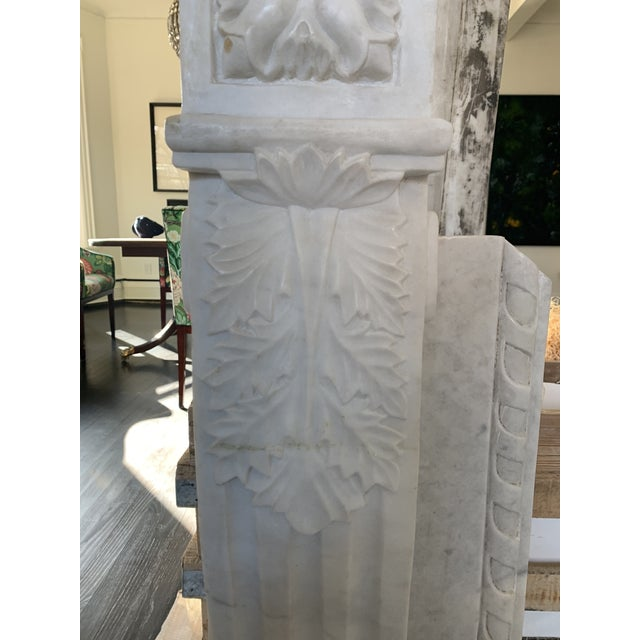 1900s Marble Fireplace Mantel For Sale - Image 4 of 12