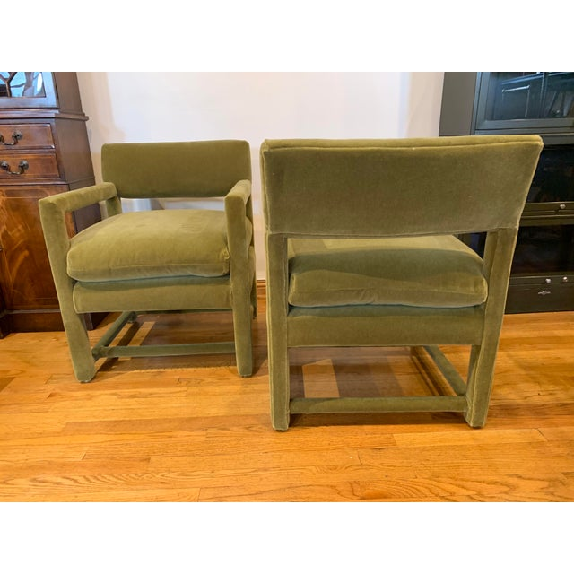 Mid-Century Modern Late 20th Century Baughman Style Armchairs- A Pair For Sale - Image 3 of 9