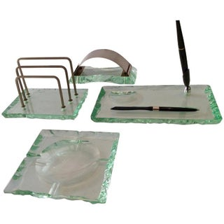Fontana Arte by Pietro Chiesa Italian Desk Set For Sale
