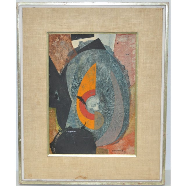 Serge Diakonoff Abstract Mixed Media Painting - Image 2 of 5