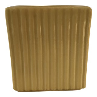 Mid Century Modern Yellow Mustard Vase Planter For Sale