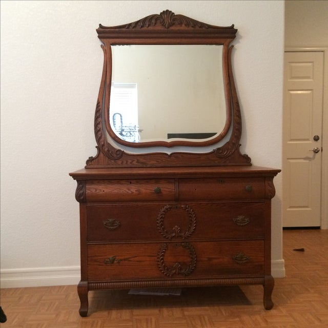 Antique Dresser with Mirror - Image 2 of 4