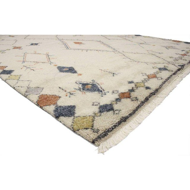Contemporary Contemporary Moroccan Style Area Rug with Modern Tribal Design For Sale - Image 3 of 4
