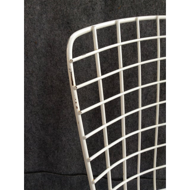 Vintage White Wire Knoll Bertoia Chairs - A Pair - Image 9 of 10