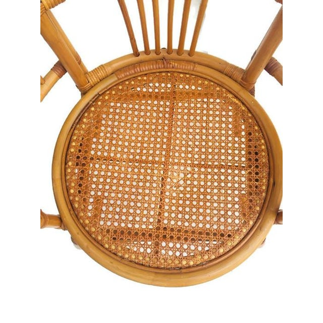 1980s Vintage Bent Bamboo Arm Chairs - a Pair For Sale - Image 12 of 13