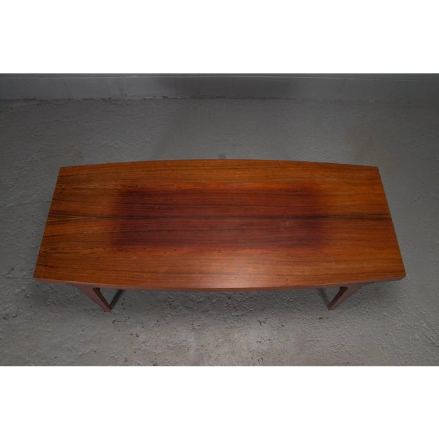 Rosewood Mid-Century Danish Modern Rosewood Coffee Table For Sale - Image 7 of 10
