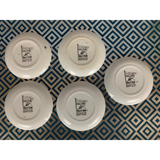 Black Fornasetti Vintage Cocktail Coasters - Set of 5 For Sale - Image 8 of 13