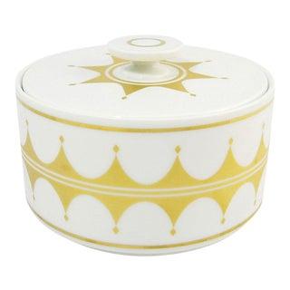 White & Gold Modernist Porcelain Box