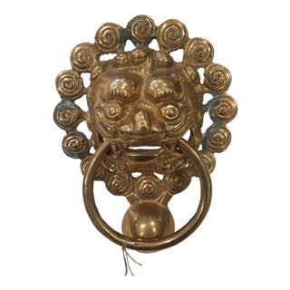 Brass Foo Dog Door Knocker
