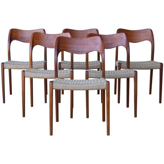 Set of Six Dining Chairs by Niels Moller, Denmark, 1960s For Sale - Image 13 of 13