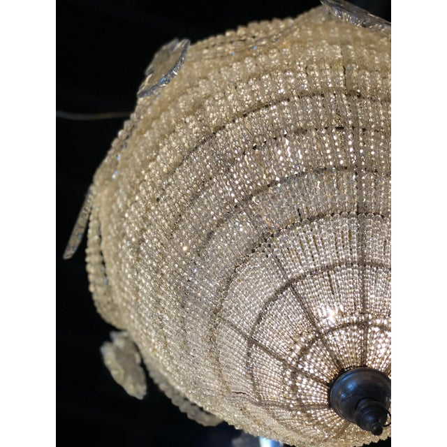 French Inverted Pear Form Beaded Chandelier Circa 1900 For Sale - Image 4 of 6