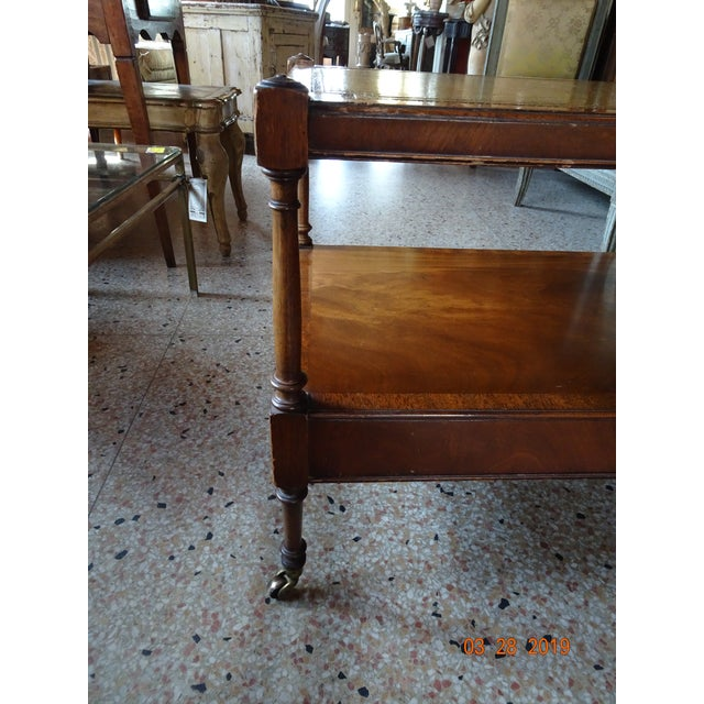 Wood Vintage French Coffee Table For Sale - Image 7 of 11