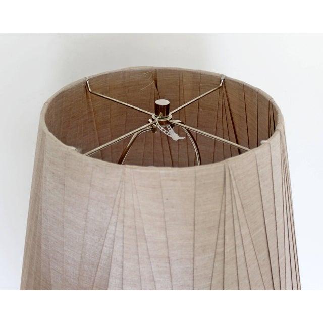 Mid-Century Modern Robert Sonneman Chrome Floor Lamp Original Tag Shade & Finial For Sale In Detroit - Image 6 of 9