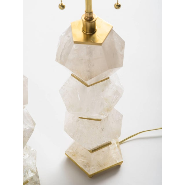 """Classic Rock Crystal Quartz Lamps - """"Eon Collection"""" For Sale - Image 9 of 10"""