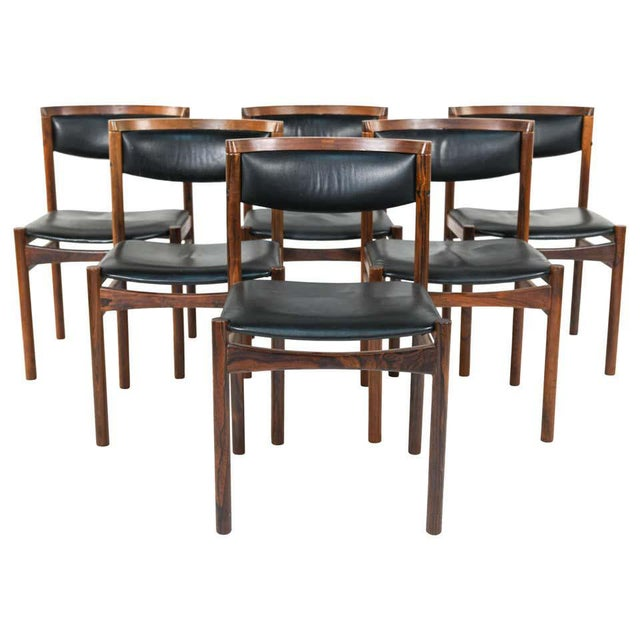 Six Mid-Century Modern Danish Dining Chairs, Soro Stolefabrik Denmark, Rosewood For Sale - Image 13 of 13