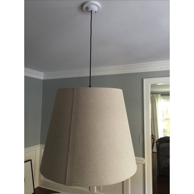 Tapered Drum Pendant in Linen - Image 4 of 6