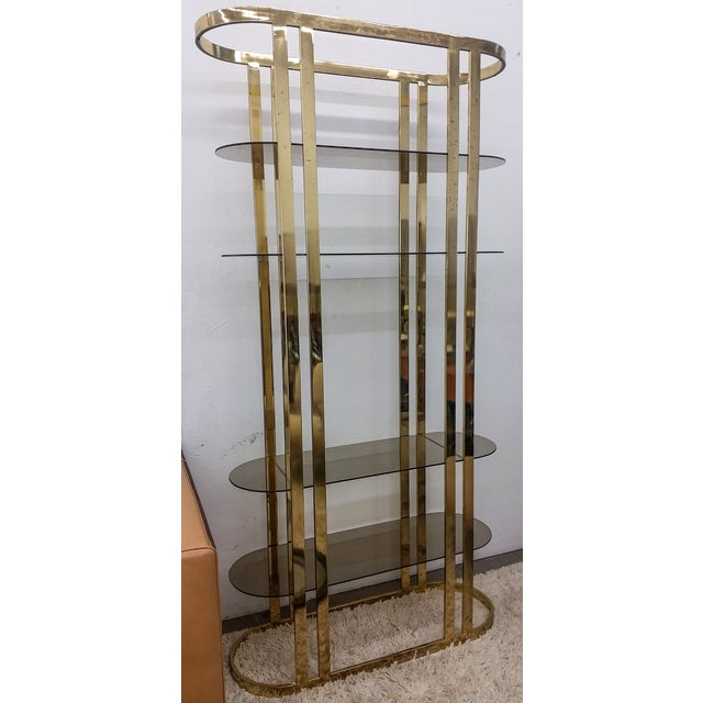 1970s Hollywood Regency Brass Etagere - Image 5 of 5