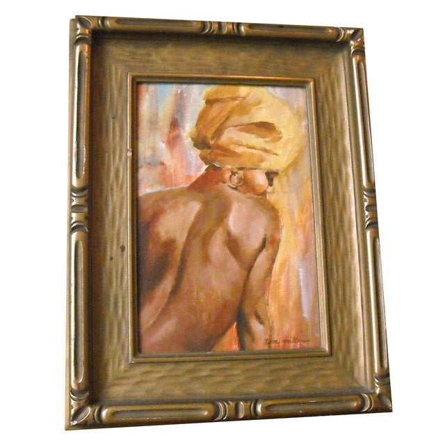 Vintage Oil Painting of a Creole Woman - Image 2 of 6
