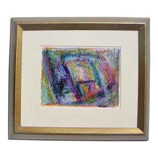 Framed Abstract Expressionism Painting For Sale