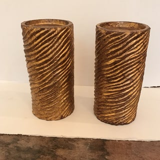 Swirled Texture Candle Holders - a Pair Preview