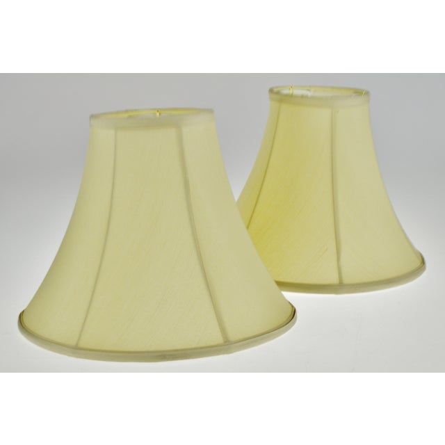 Vintage Bell Shape Fabric Lamp Shades - a Pair For Sale - Image 10 of 13