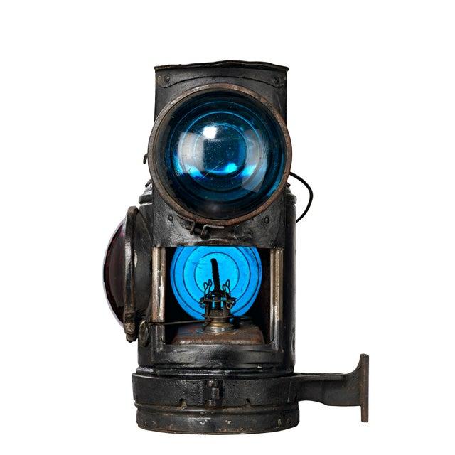 Metal Three Lens Adlake Railroad Switching Lantern/Light For Sale - Image 7 of 12