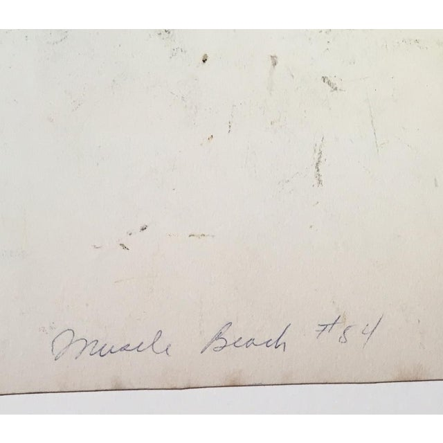 "Mid-Century Mary M. Kennedy ""Muscle Beach"" Painting - Image 4 of 8"