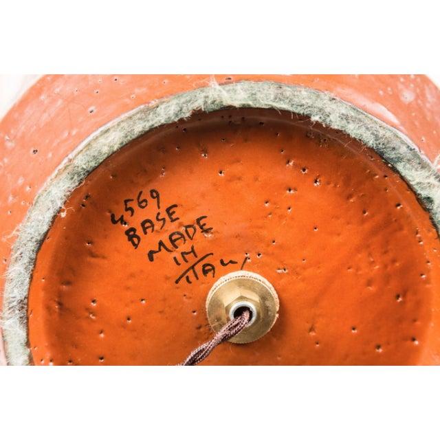 Bitossi Hand-Glazed Orange Studio Lamp For Sale In Los Angeles - Image 6 of 6