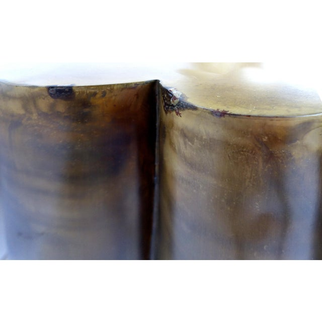 Scalloped Brass Finish Side Tables - a Pair - Image 11 of 11