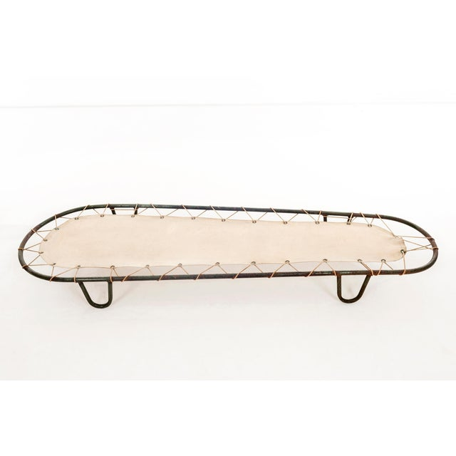 Canvas Outdoor Chaise Lounge in the Style of Muriel Coleman For Sale - Image 7 of 11