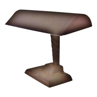 Late Art Deco to Early Mid Century Industrial Style Desk Lamp For Sale