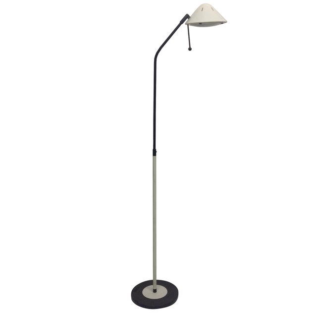 Modern Floor Lamp & Bullet Shade For Sale
