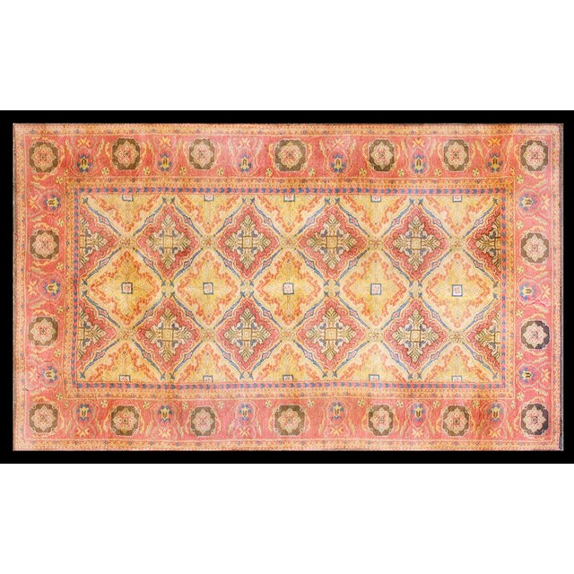 1920s Vintage 1920s Indian Cotton Agra Rug - 4'x7' For Sale - Image 5 of 5