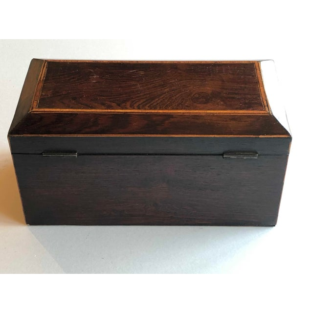Mahogany Box With Lion Head Handles For Sale - Image 4 of 11