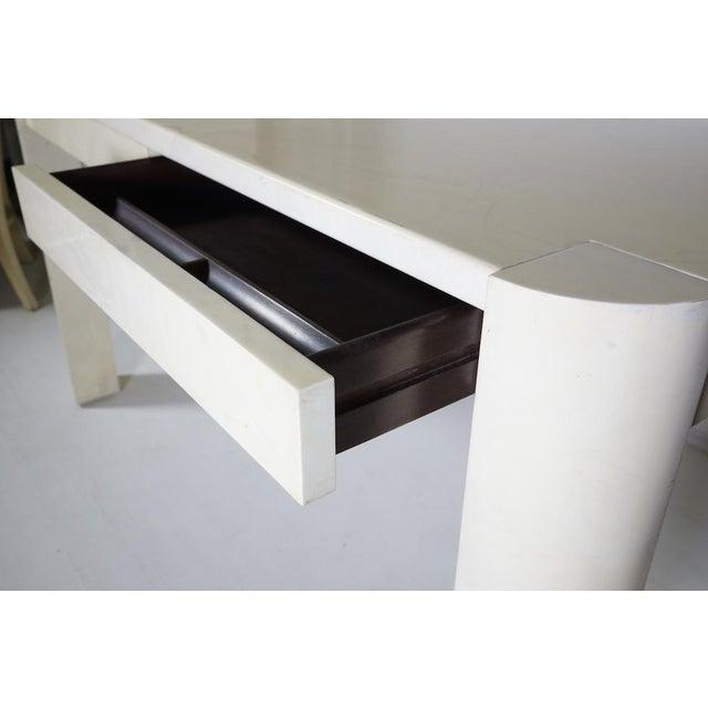 Vintage Parchment Desk by Karl Springer - Image 2 of 4