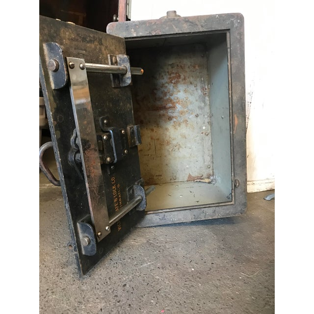 Solid Iron Antique Train Lock Box - Image 7 of 10