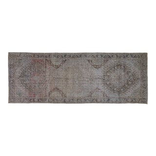 "Vintage Turkish Overdyed Rug,4'9""x13'2"""