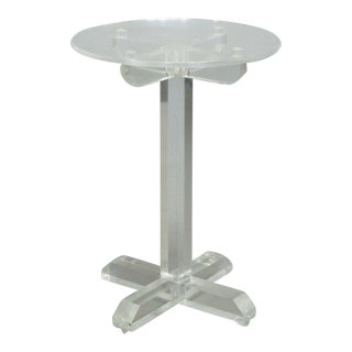 Acrylic Lucite Occasional Table in the Style of The Ritts Co. For Sale