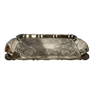 20th Century Traditional Oneida Silver Platter For Sale