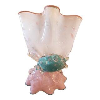 Vintage Artist Signed Art Glass Sculpture For Sale