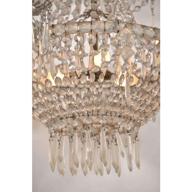 Seven-Light Crystal Chandelier For Sale - Image 4 of 10