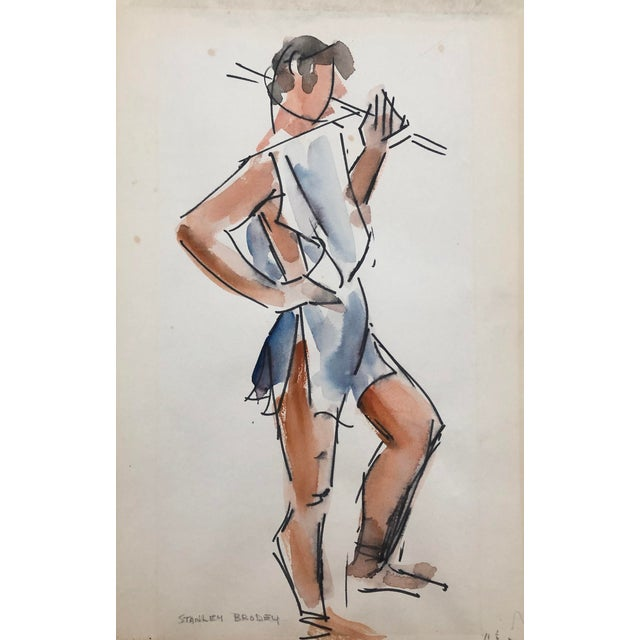 Studio Life Class Study of a Man by Stanley Brodey, 1950s For Sale