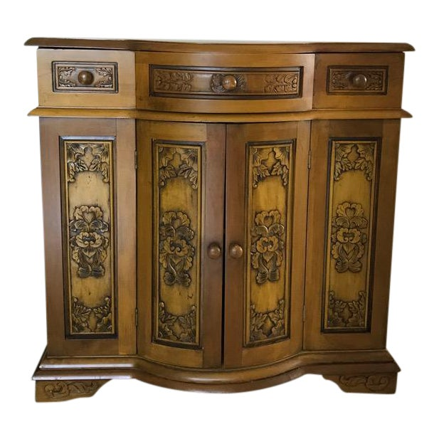 Decoratively Carved Cabinet - Image 1 of 5