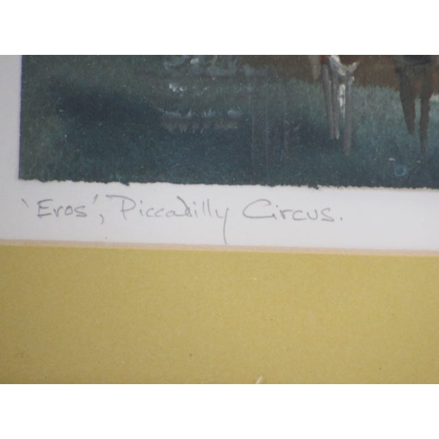 """""""Eros"""" Piccadilly Circus Painting For Sale - Image 10 of 13"""