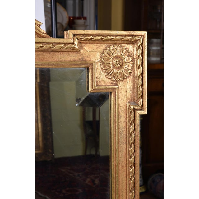 Early 20th Century Matching Pair of Giltwood Hanging Beveled Mirrors For Sale - Image 9 of 11