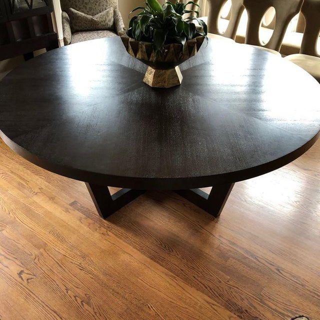 Italian 72 Inch Round Dining Table For Sale - Image 4 of 13